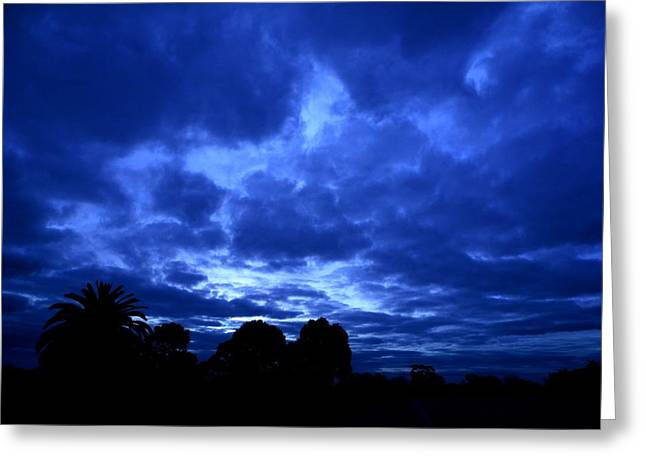 Blue Storm Rising Greeting Card by Mark Blauhoefer