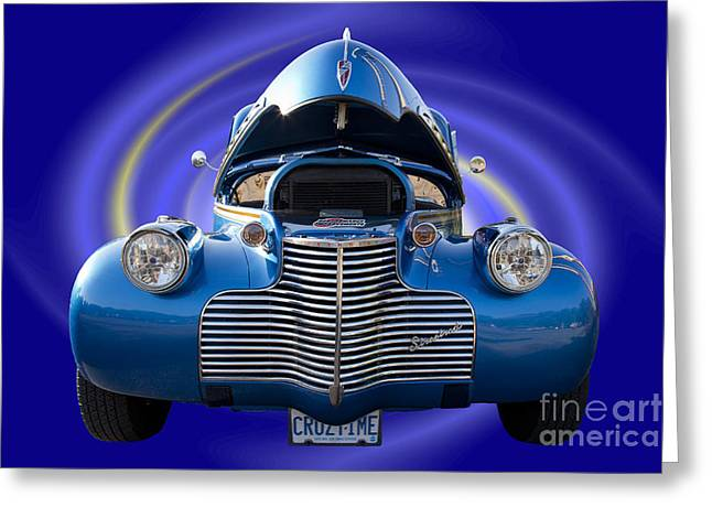 Blue Streetrod Greeting Card
