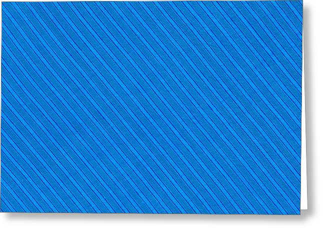 Blue Striped Diagonal Textile Background Greeting Card by Keith Webber Jr