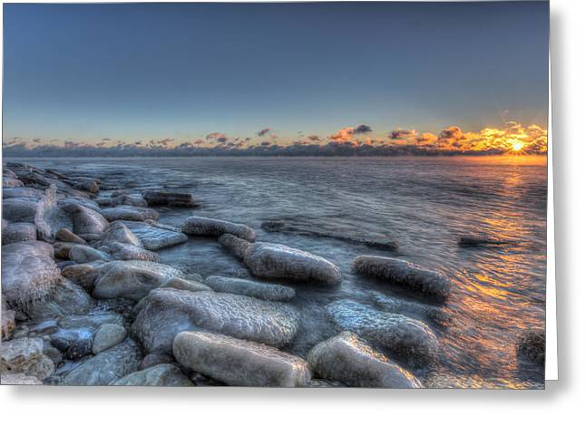 Greeting Card featuring the photograph Blue Sunrise by Paul Schultz