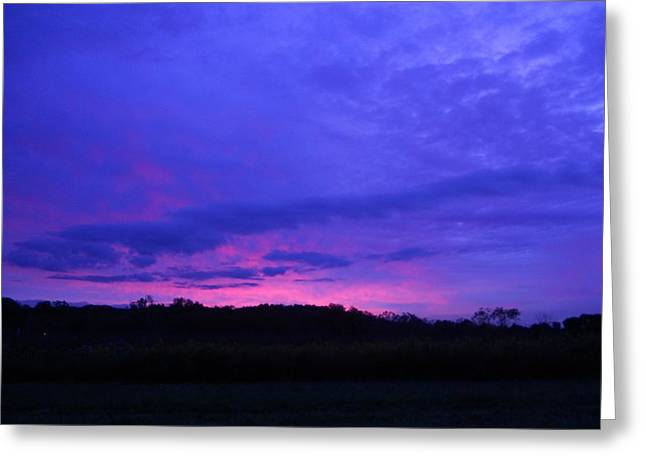 Greeting Card featuring the photograph Blue Sunset by Teresa Schomig