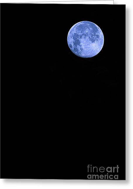 Blue Supermoon Greeting Card by Trish Mistric
