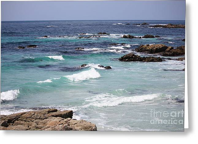 Blue Surf Greeting Card by Carol Groenen