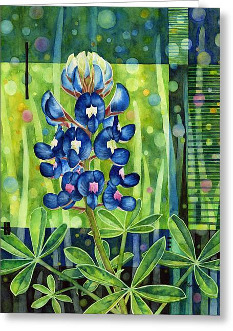 Blue Tapestry Greeting Card