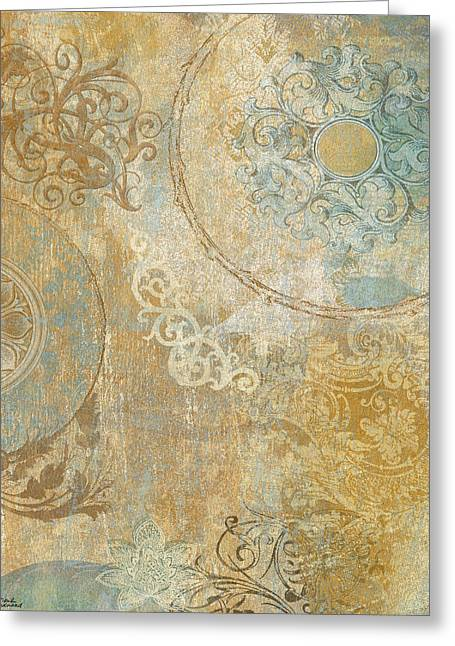 Blue Tapestry Greeting Card by Marilu Windvand