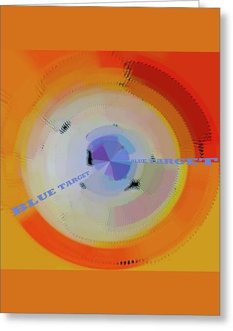 Blue Target Greeting Card by Ben and Raisa Gertsberg