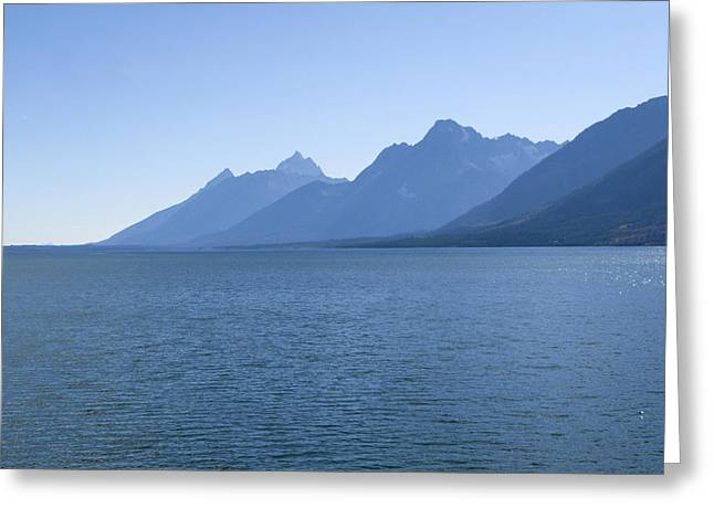 Blue Tetons Greeting Card