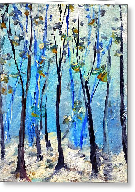 Blue Thoughts In Winter Greeting Card