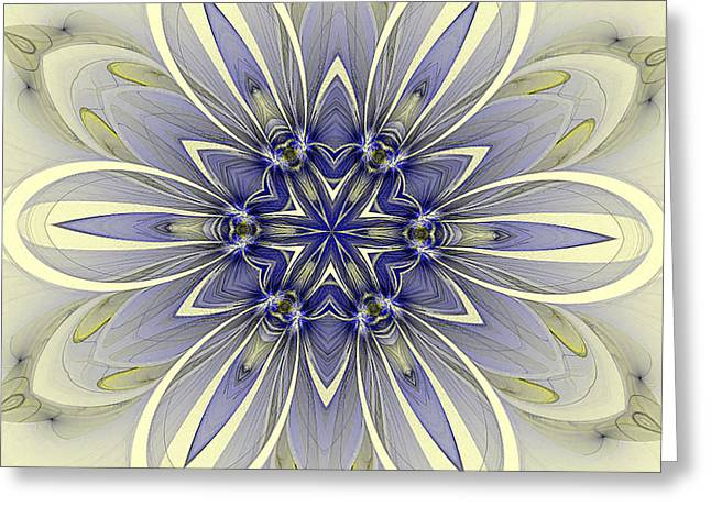 Blue Trance Greeting Card