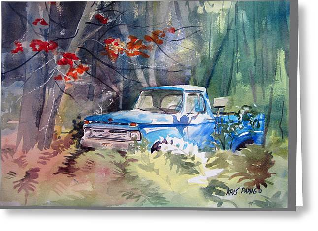 Blue Truck Greeting Card