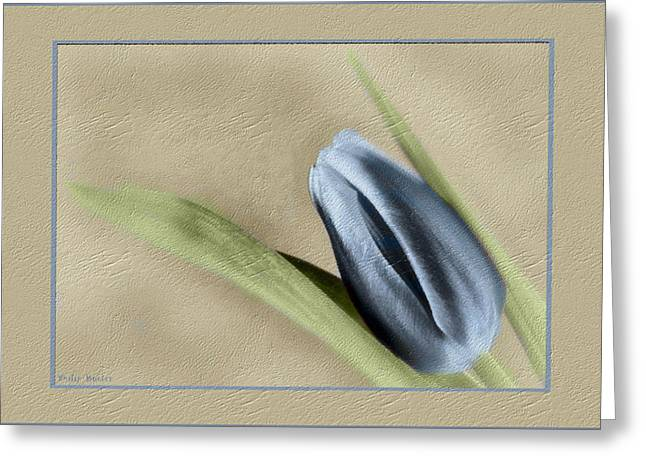Blue Tulip Greeting Card by Philip  Butler