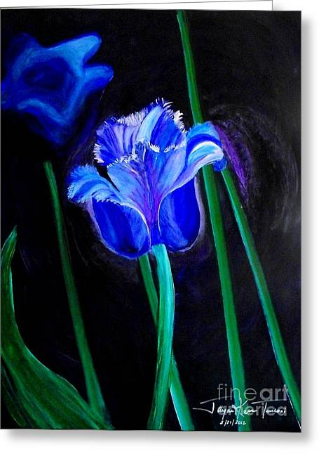 Blue Tulip Variation Greeting Card