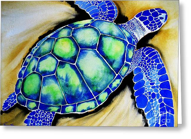 Blue Turtle Greeting Card