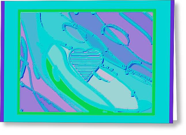 Blue Valentine Greeting Card