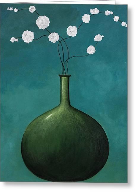 Blue Vase 1 Greeting Card by Pablo Esteban