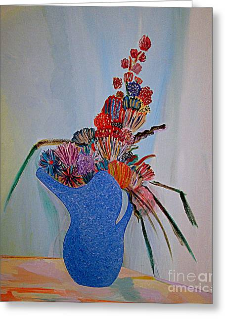 Blue Vase 22 Greeting Card
