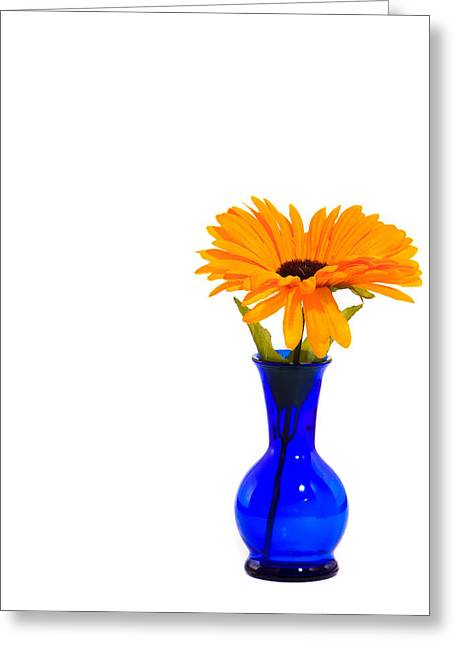 Greeting Card featuring the photograph Blue Vase by Cecil Fuselier