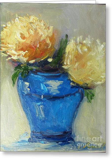 Blue Vase Color Study Greeting Card