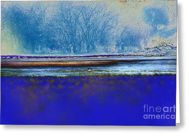 Blue Water Greeting Card by Carol Lynch