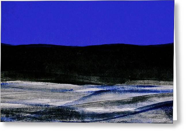 Blue Water Greeting Card by Deborah Talbot - Kostisin