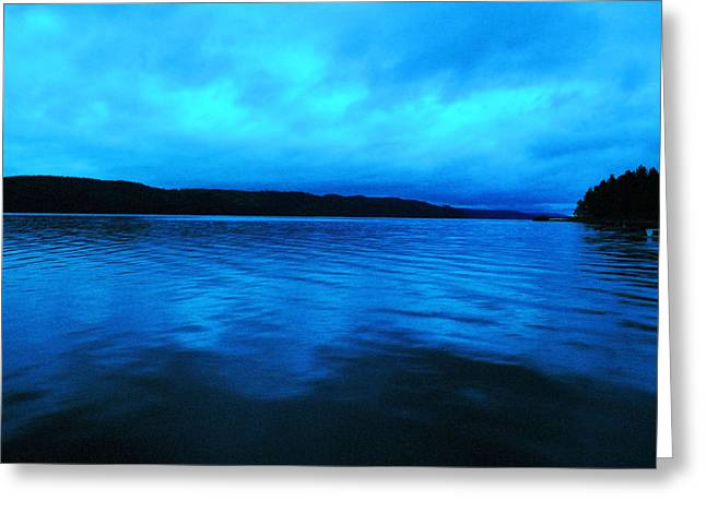 Blue Water In The Morn  Greeting Card