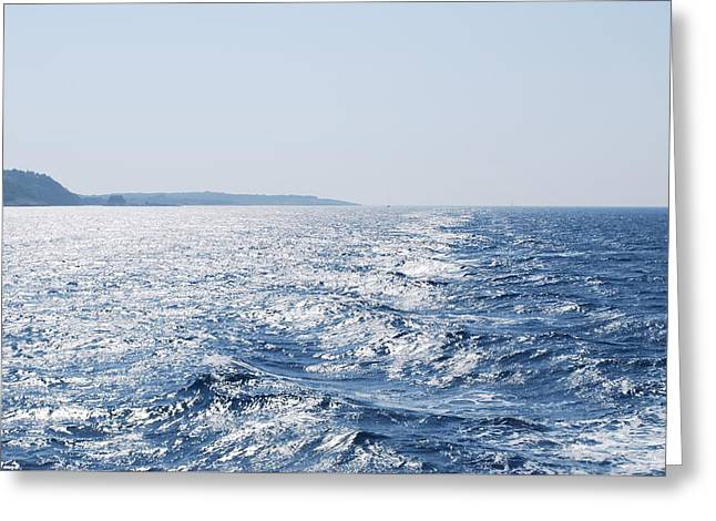 Greeting Card featuring the photograph Blue Waters by George Katechis