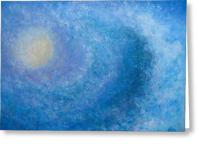 Blue Wave Greeting Card by Betsy Moran