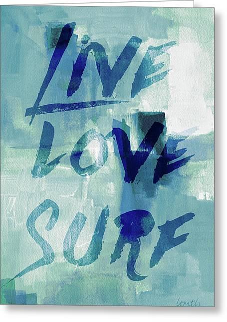 Blue Waves II Greeting Card
