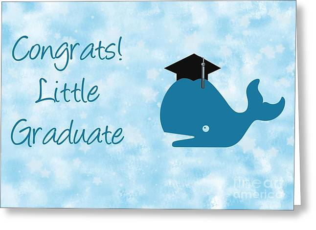 Blue Whale Grad Greeting Card