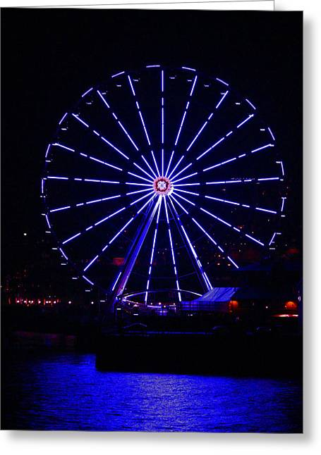 Blue Wheel Of Fortune Greeting Card by Kym Backland