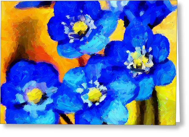 Blue Wild Flowers Tnm Greeting Card by Vincent DiNovici