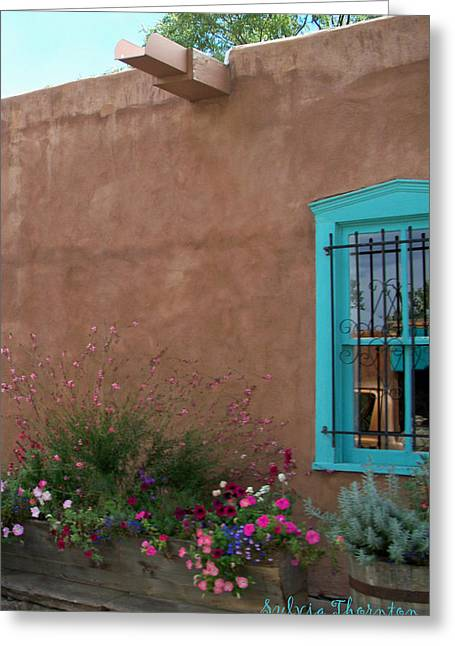 Greeting Card featuring the photograph Blue Window by Sylvia Thornton