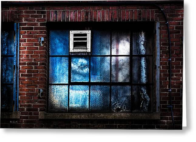 Blue Windows Greeting Card by Bob Orsillo