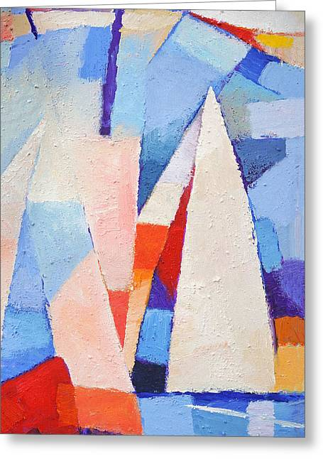 Blue Winds Greeting Card
