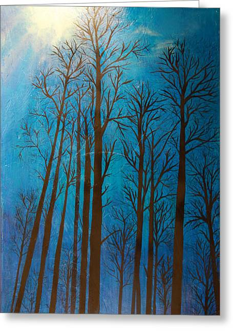 Blue Winter Sky Greeting Card by Dana Kern