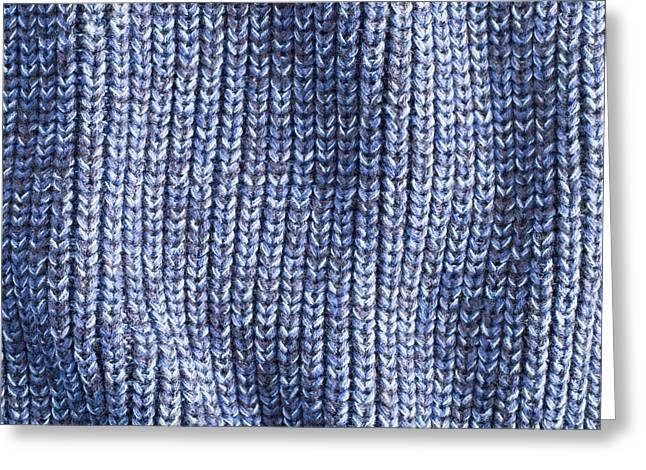Blue Wool Greeting Card by Tom Gowanlock
