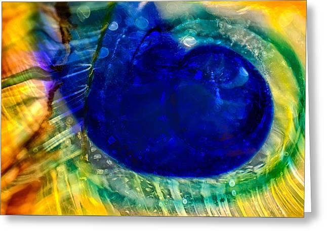 Blue Worm Greeting Card