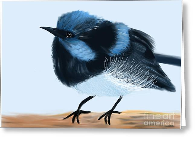 Blue Wren Beauty Greeting Card
