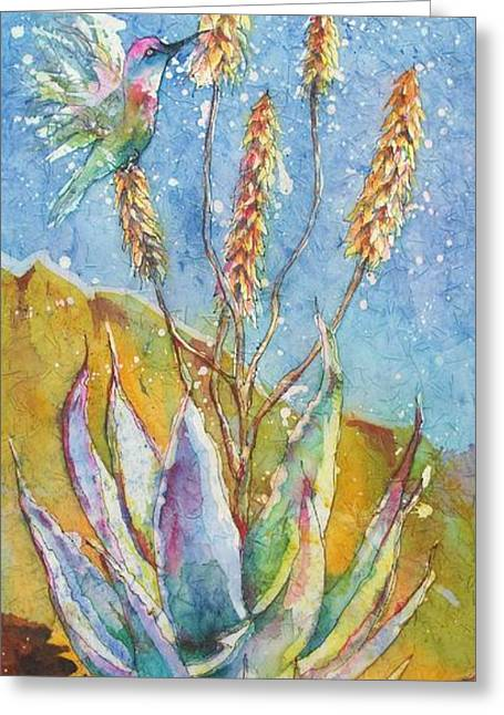 Blue Yucca Greeting Card