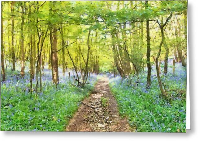 Bluebell Wood Watercolour Greeting Card