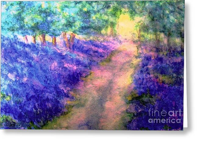 Bluebell Woods Greeting Card by Hazel Holland
