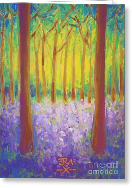 Bluebells Greeting Card by Jedidiah Morley
