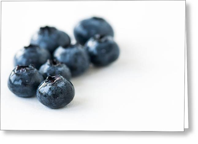 Blueberries 2 Greeting Card by Andrew Campbell