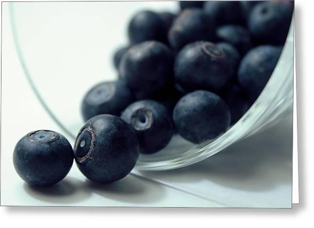Blueberries Greeting Card by Joseph Skompski