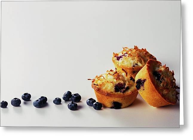Blueberry-coconut Pound Cakes Greeting Card