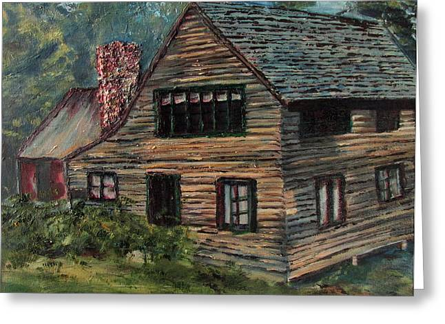 Blueberry Cottage At Twin Lake Village Greeting Card