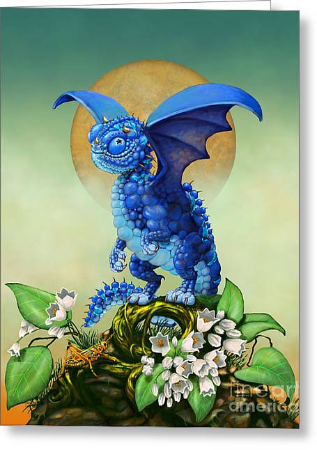 Blueberry Dragon Greeting Card