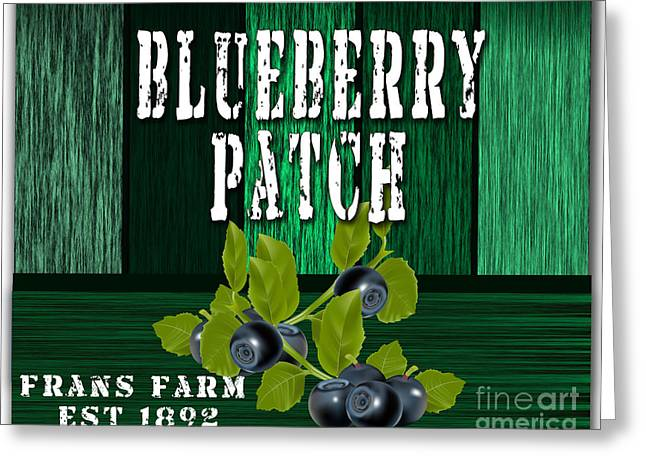 Blueberry Farm Greeting Card by Marvin Blaine