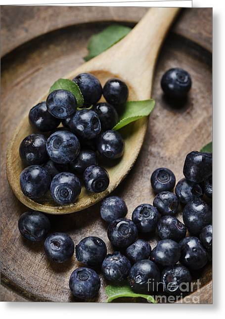 Blueberry Greeting Card by Jelena Jovanovic