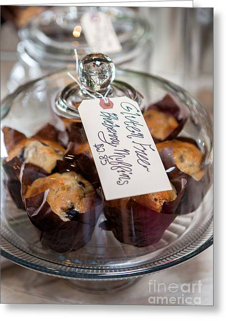 Blueberry Muffins Greeting Card by Iris Richardson